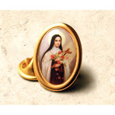 Saint Therese of Liseaux full color lapel pin