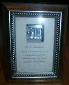 First Communion Bible Behind Glass Picture Frame
