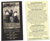 Children Of Fatima Prayer Card