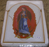Our Lady Of Guadalupe Glass Window Shrine and Sun Catcher Ornament