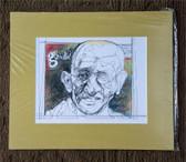 Matted Gandhi Sketch by Joseph Matose
