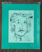 Matted Albert Einstein Sketch by Joseph Matose