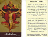 God Is Love Prayer Card - Act of Charity