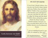 An Act Of Faith Prayer Card