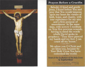 Prayers Before A Crucifix Prayer Card