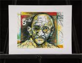 Colorful Gahndi Sketch by Joseph Matose