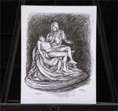 The Pieta Sketch by Joseph Matose