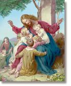 Jesus with Children 3D Art Print