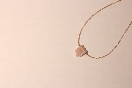 Rose Quartz Triplet Necklace