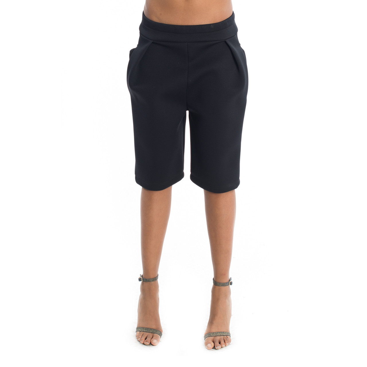 Black Neoprene Shorts