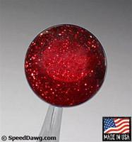Transparent Red Metal Flake Shift Knob