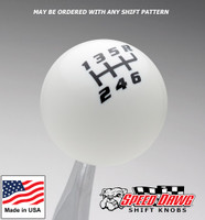 White / Black Competition Pattern Shift Knob