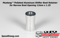 Mustang™ Polished Aluminum Shifter Boot Retainer for Narrow Boot Opening 12mm x 1.25