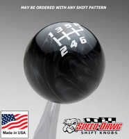Black Pearl / White Competition Pattern Shift Knob