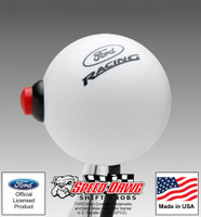 Ford Racing White Shift Knob with Line Lock / NOS Button