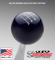 Midnight Blue Shift Knob with Engraved Shift Pattern