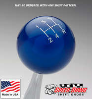 Transparent Blue Shift Knob with Engraved Shift Pattern