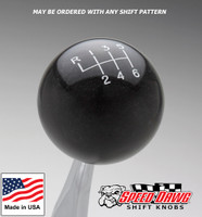 Dark Shadow Gray Shift Knob with Engraved Shift Pattern