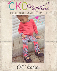 Risa's Baby Ruched Bow Leggings PDF Pattern