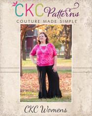Jessica's Women's Plus Knit Ruffle Pants and Capris PDF Pattern
