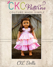 Addison's Doll Triple Ruffle Low Back Dress PDF Pattern
