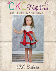 Callahan's Baby Ruched Stripwork Peasant Dress PDF Pattern