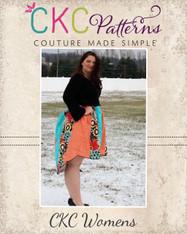 Uma's Women's Plus Knit Woven Strip work High Low Dress and Tunic PDF Pattern