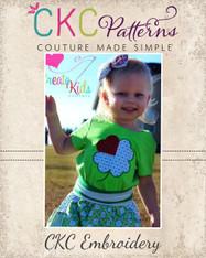 Shamrock Heart Leaf Embroidery Design