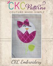 Chick Tulip Embroidery Design
