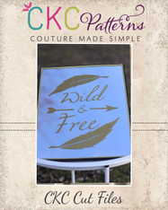 Wild & Free Cut File