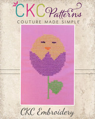 Chick Tulip Cross Stitch Embroidery Design