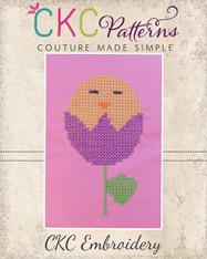 Chick Tulip Cross Stitch Embroidery Design