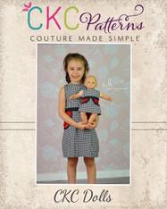 Jackie's Oh So Retro Pocket Dress Doll Sizes PDF Pattern