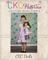 Molly's Faux Apron Peasant Dress Dolls Sizes PDF Pattern