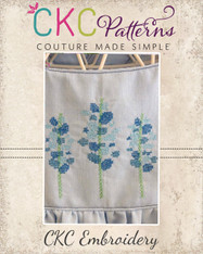Blue Bonnets Cross Stitch Embroidery Design