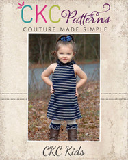Nora's Ruffled Neck A-line Top, Tunic, and Dress PDF Patterns