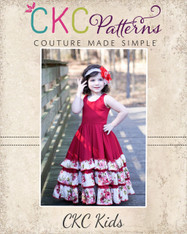Alejandra's Ruffled Maxi Dress PDF Pattern