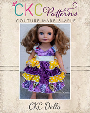 Gentry's Dolls Girly Ruffled Dress PDF Pattern