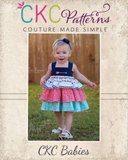 Addison's Babies Triple Ruffle Low Back Dress PDF Pattern