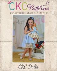 Alexah's Asymmetrical Dress and Maxi Doll Sizes PDF Pattern