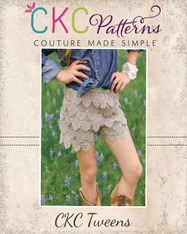 Gemma's Tween Lace Shorts PDF Pattern