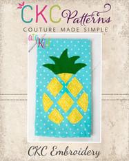 Pineapple Cut-Out Appliqué Embroidery Design
