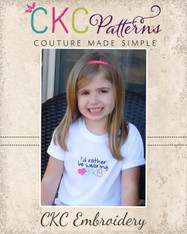 Rather be Wearing CKC Appliqué Embroidery Design