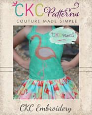 Flamingo Cross Stitch Embroidery Design
