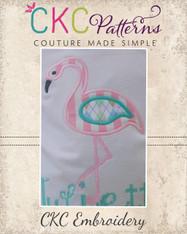 Flamingo Applique Embroidery Design