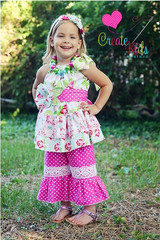 Paired with Harper's Pillowcase Top and Megan's Accessory Pack Patterns