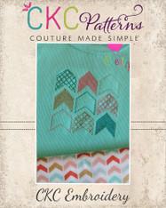 Geometric Chevron Embroidery Design