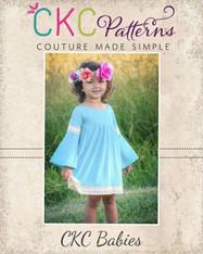 Tatiana's Baby Trumpet Sleeve Dress and Top PDF Pattern
