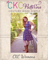 Amy's Women's Knit Bow Dress and Maxi PDF Pattern