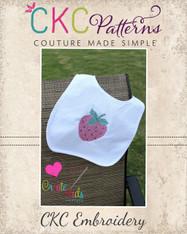 Strawberry Cross Stitch Embroidery Design